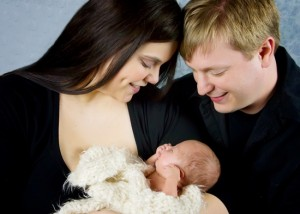 Premature baby and parents